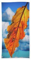 October Leaf B Fine Art Bath Towel