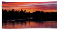 Odiorne Point Sunset Hand Towel