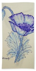 Oh Poppy Hand Towel by Marna Edwards Flavell