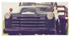 Old Chevy Farm Truck In Vermont Square Hand Towel
