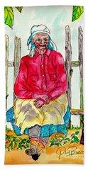 Old Migrant Worker, Resting, Arcadia, Florida 1975 Hand Towel