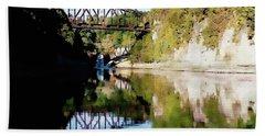 Old Railway Bridge Over The Winooski River Bath Towel