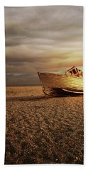Old Wooden Boat Hand Towel