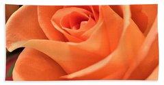 Orange Rose Bath Towel