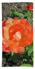 Hand Towel featuring the photograph Orange Rose by Stephanie Moore