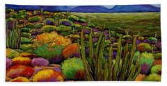 Organ Pipe Hand Towel by Johnathan Harris