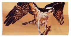 Osprey Bath Towel by Ron Haist