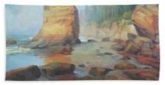 Otter Rock Beach Bath Towel