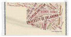 Ou Word Art University Of Oklahoma Hand Towel