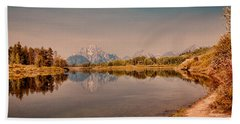 Bath Towel featuring the photograph Oxbow Bend by Cathy Donohoue