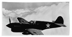 P-40 Warhawk Hand Towel by War Is Hell Store