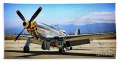 P-51 Mustang Kimberley Kaye Bath Towel