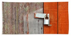 Hand Towel featuring the photograph Padlock by Tom Gowanlock