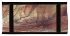 Painted Hills Triptych Hand Towel by Leland D Howard