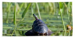 Painted Turtle Bath Towel