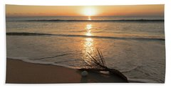 Palm Frond Coral Sunrise Delray Beach Florida Bath Towel