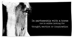 Palomino Partnership Quote Bath Towel