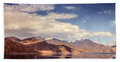 Hand Towel featuring the photograph Pangong Tso Lake by Alexey Stiop