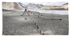 Hand Towel featuring the photograph Pangong Tso Lkae by Alexey Stiop