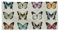 Papillon Hand Towel by Sarah Hough