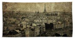 Paris Bath Towel by Diane Diederich