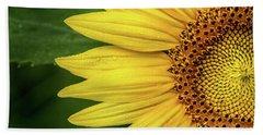 Partial Sunflower Hand Towel
