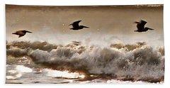 Pelican Patrol Bath Towel by Jim Proctor