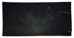 Perseid Meteor Shower Bath Towel