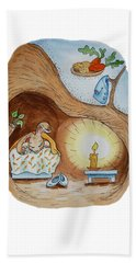 Peter Rabbit And His Dream Hand Towel by Irina Sztukowski