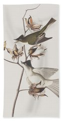 Pewit Flycatcher Hand Towel by John James Audubon