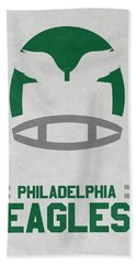 Philadelphia Eagles Vintage Art Hand Towel by Joe Hamilton