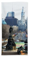 Philadelphia - The Parkway Hand Towel by Cindy Manero