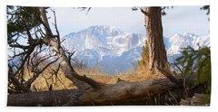 Pikes Peak And Trail To Bald Mountain Bath Towel