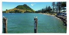 Pilot Bay Beach 1 - Mt Maunganui Tauranga New Zealand Hand Towel