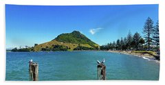 Pilot Bay Beach 2 - Mount Maunganui Tauranga New Zealand Bath Towel