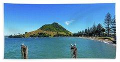 Pilot Bay Beach 2 - Mount Maunganui Tauranga New Zealand Hand Towel
