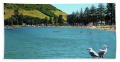 Pilot Bay Beach 5 - Mt Maunganui Tauranga New Zealand Hand Towel
