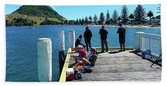 Pilot Bay Beach 7 - Mt Maunganui Tauranga New Zealand Hand Towel