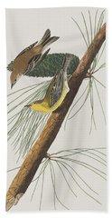 Pine Creeping Warbler Hand Towel