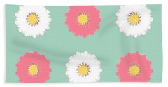 Bath Towel featuring the digital art Pink And White by Elizabeth Lock