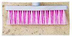 Pink Broom Bath Towel