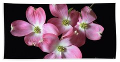 Pink Dogwood Branch Hand Towel