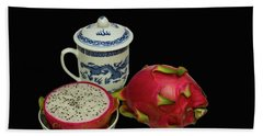 Bath Towel featuring the photograph Pink Dragon Fruit  by David French
