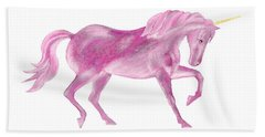 Pink Unicorn Hand Towel