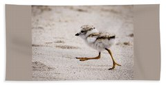 Piping Plover Chick Bath Towel