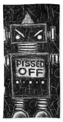 Pissed Off Bot Bath Towel