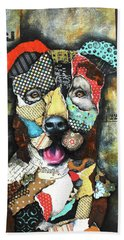 Pit Bull Hand Towel by Patricia Lintner
