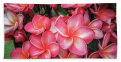 Plumeria 2 Bath Towel by Leigh Anne Meeks