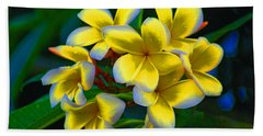 Bath Towel featuring the photograph 1- Plumeria Perfection by Joseph Keane