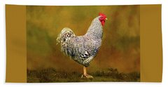 Plymouth Rock Rooster Bath Towel
